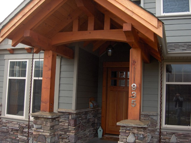 Timber Frame Entry Craftsman Entry Other Metro By