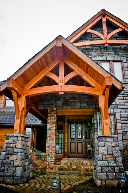 Timber Framed Entryways Showcase Craftsman Entry