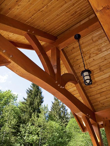 Timber Framed Entryways Showcase craftsman-entry