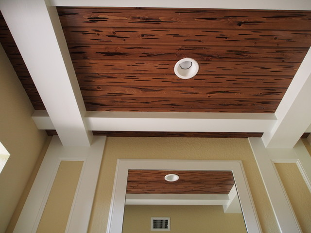 Tongue And Groove Cypress Ceiling Detail