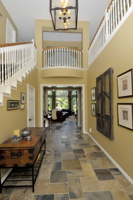 Entry hall for Entrance flooring ideas