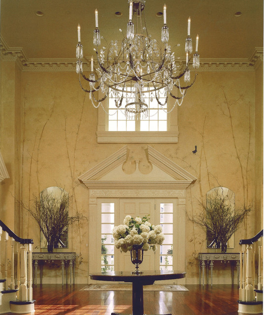 Handpainted Foyer traditional-entry