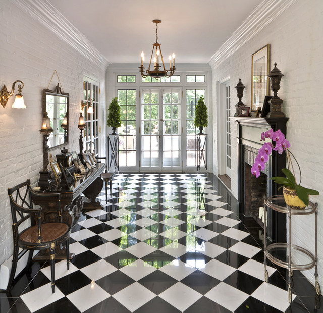 traditional entry by Kim E Courtney Interiors & Design Inc