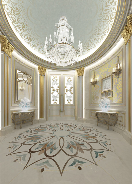 Elegant Private Palace Interior Design   Dubai   UAE American Traditional Entry