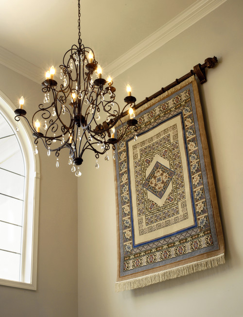 What width of curtain rod did you use for hanging the rug?