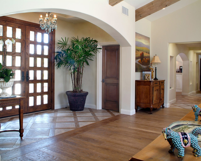Foyer Tile To Wood Transition : Traditional ranch entry san diego by