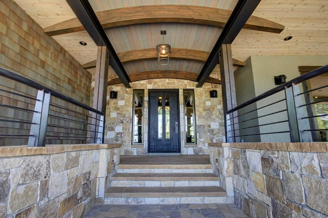 Trailside Builders Martis Camp Truckee California Rustic Entry Sacramento By Kitchen