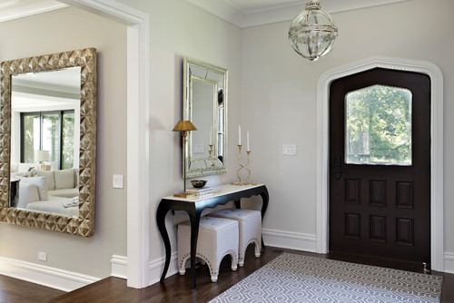 Benjamin moore 39 s best selling grays evolution of style - Mirror opposite front door ...