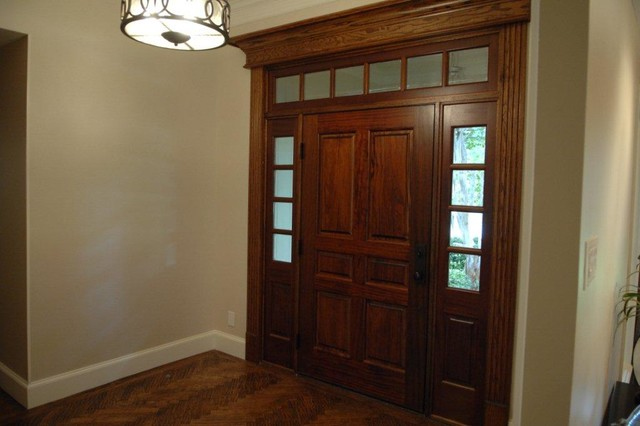 Transitional Entry with a Touch of Contemporary contemporary-entry