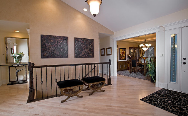 Transitional Townhome traditional-entry