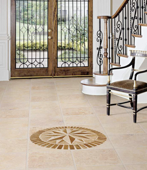 Travertine Entryway Traditional Entry Other Metro