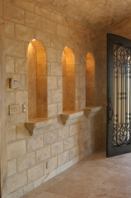 Travertine Faux Finish : Travertine faux finish mediterranean entry phoenix