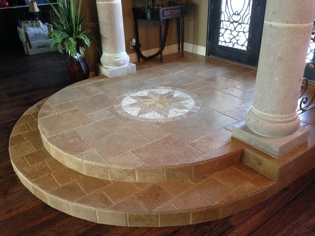 Travertine Foyer With Medallion