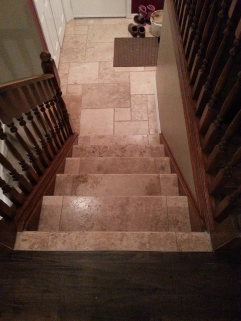 Travertine Stairs Entry Toronto By Sense Of Pride