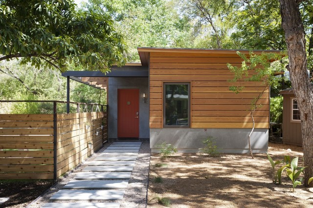 Travis Heights Guest House Modern Entry Austin
