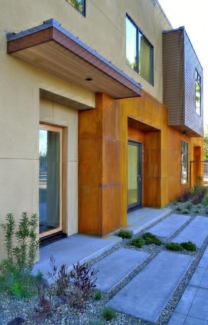 Triangle residence contemporary entry sacramento for Architecture firms sacramento