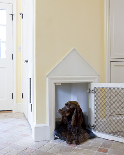 Tudor Addition Mudroom Dog House traditional entry
