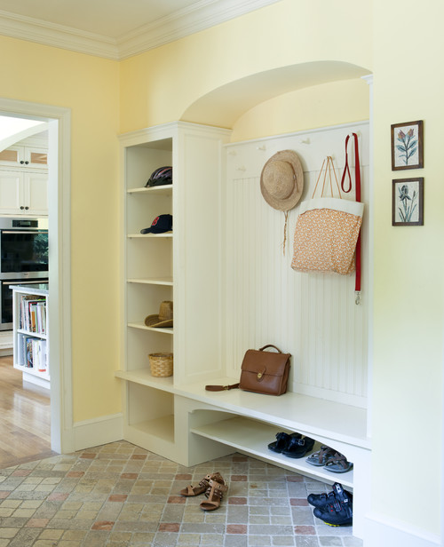 Tudor Addition Mudroom traditional entry