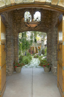 Tuscan Entry And Courtyard