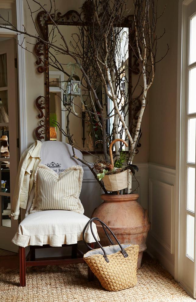 Inspiration for a farmhouse entryway remodel in Atlanta