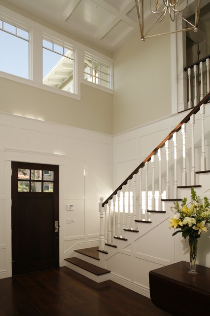 Two Story Foyer Paneling : Two story entry foyer traditional los angeles