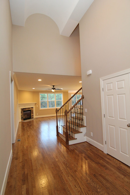 Houzz Two Story Foyer : Two story entry foyer traditional raleigh by