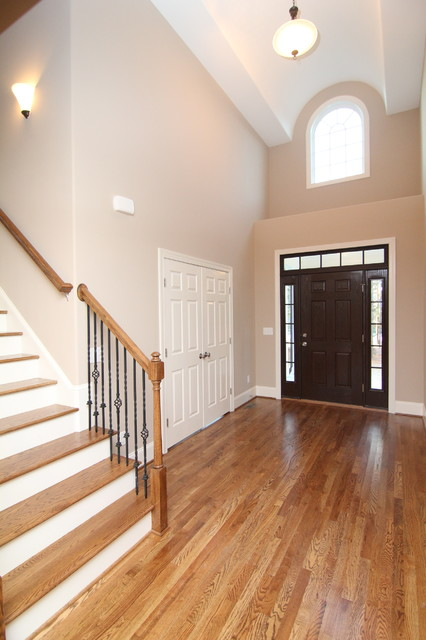 Traditional Foyer Questions : Two story entry traditional raleigh by