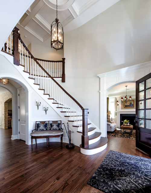 Houzz Two Story Foyer : Two story foyer traditional entry chicago by