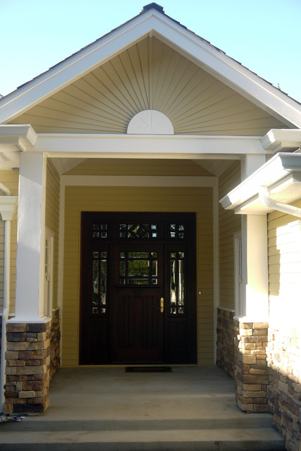 Unique Front Door Unit With Sidelights And Transom