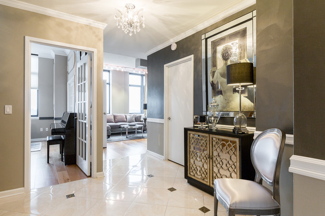 Upper east side penthouse shabby chic style ingresso for Ingresso shabby chic