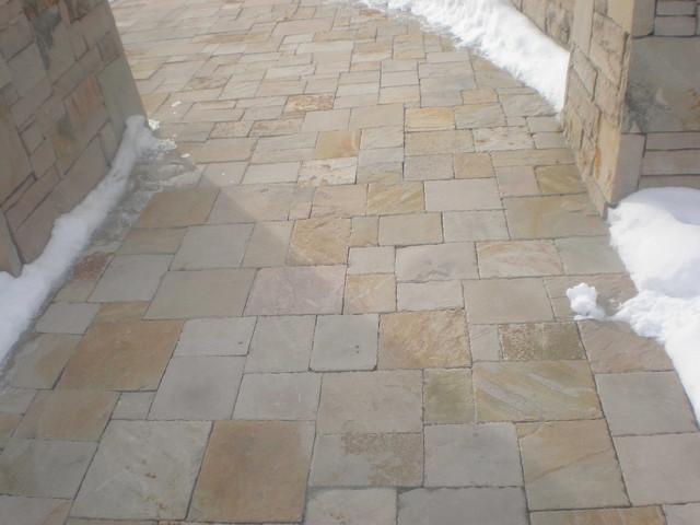 Utah Blonde Sandstone Pavers Contemporary Entry Salt