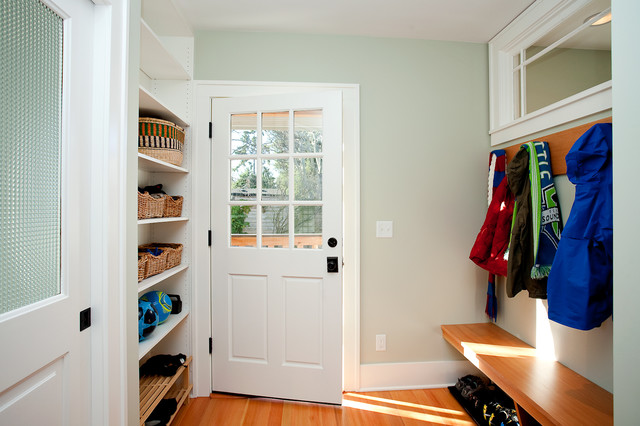 Utility Entry in Craftsman Home traditional-entry