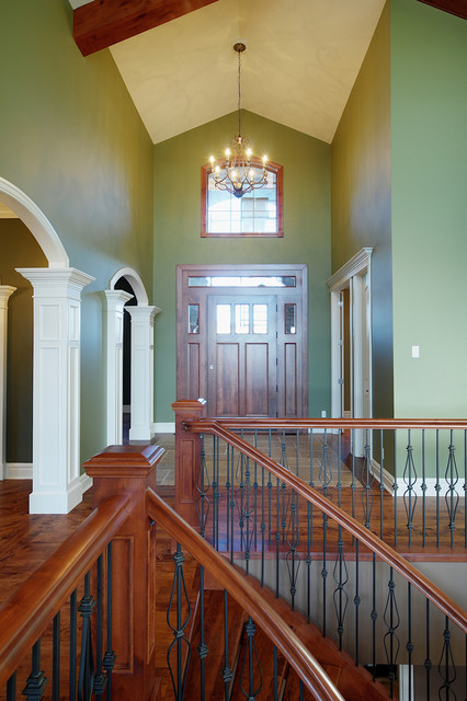 Traditional Foyer Questions : Vaulted foyer traditional entry calgary by veranda