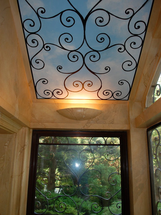 Wrought iron window grilles home design ideas pictures for Iron window design house