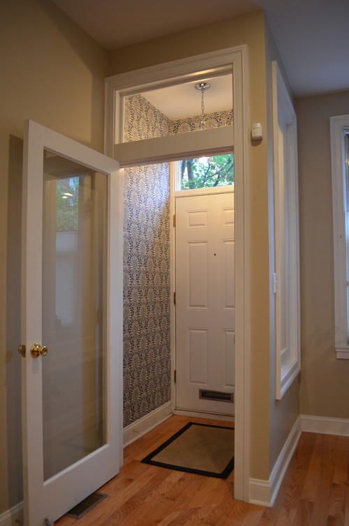 Dimensions of the vestibule Interior design ideas for row houses