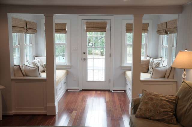 Vestibule With Window Seats Beach Style Entry