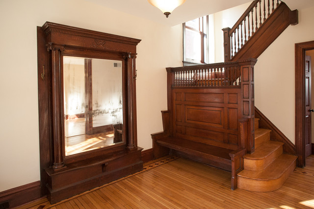 Victorian Foyer Jr : Victorian foursquare traditional entry st louis by