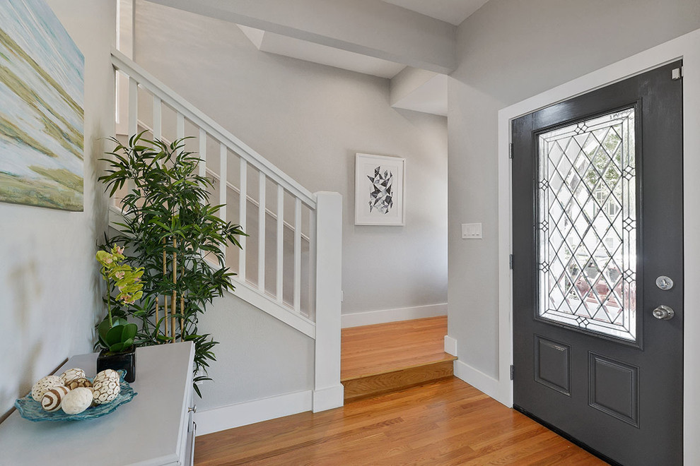 Inspiration for a victorian entryway remodel in San Francisco