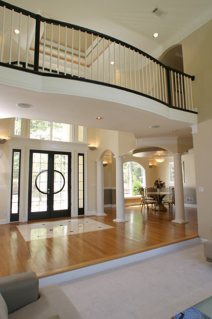 View of foyer and dining room of laurie house plan for House plans with foyer entrance