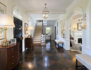 Villanova Residence - front hall traditional-entry