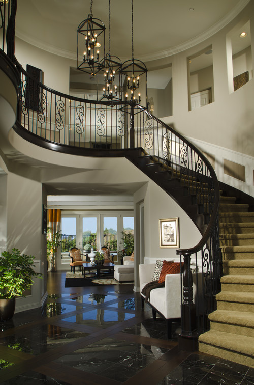 What Is The Color And Finish Of The Wood Staircase Black