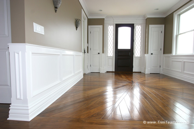Wainscot and Picture Frames - Traditional - Entry - New York - by ...