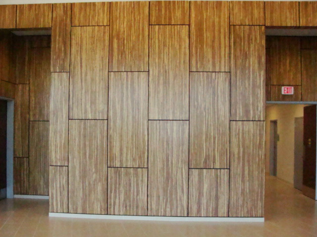 Wall Laminates Designs love the floor on the wall laminate Wall Paneling Modern Entry