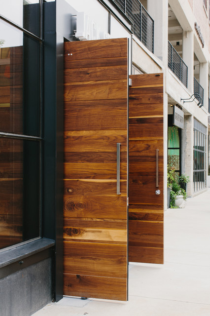 walnut doors modern entry atlanta by skylar morgan furniture