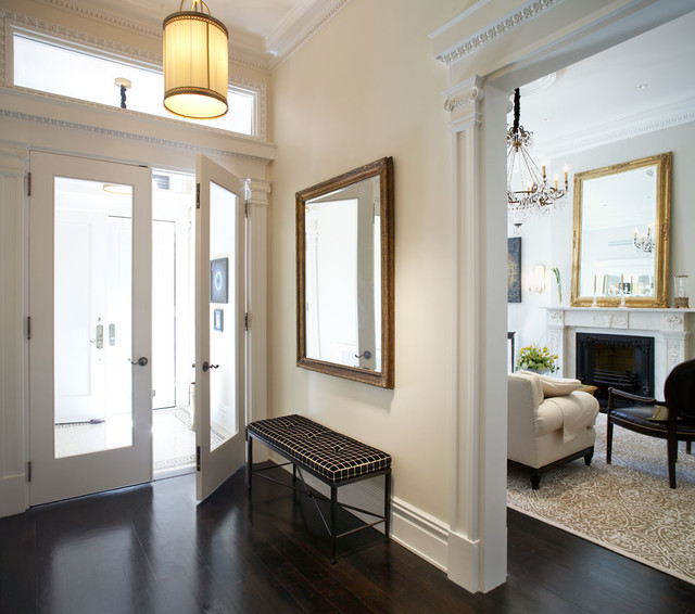 New Home Interior Design Traditional Hallway: Waverly Place Townhouse