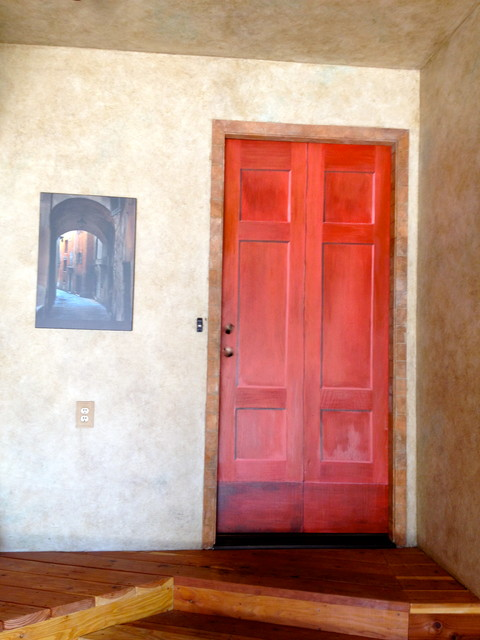 Welcome Home A Trompe L Oeil Door Eclectic Entry