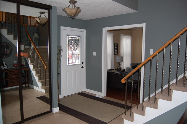 Houzz Foyer Paint : Welcoming foyer eclectic entry toronto by decked