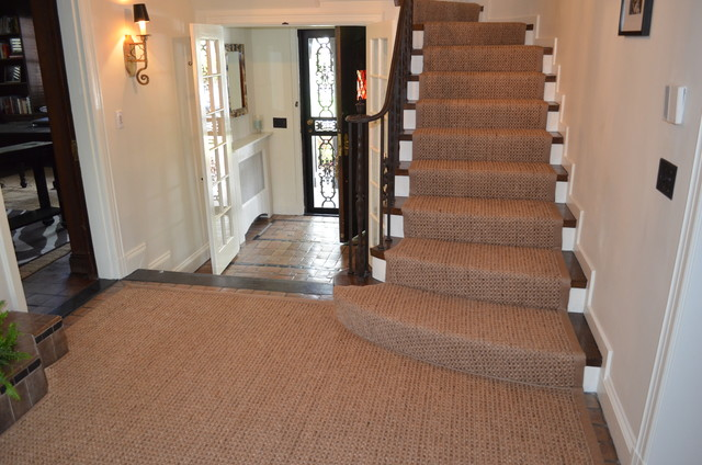Wellesley Ma Custom Sisal Stair Runner
