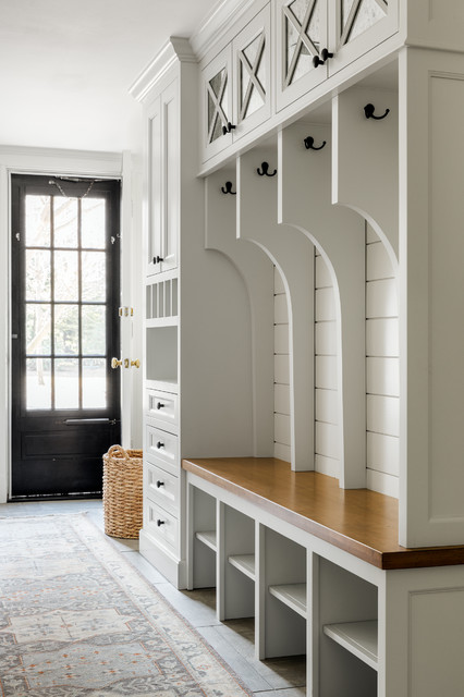 Wellesley Renovation Farmhouse Entry Boston By Acquire