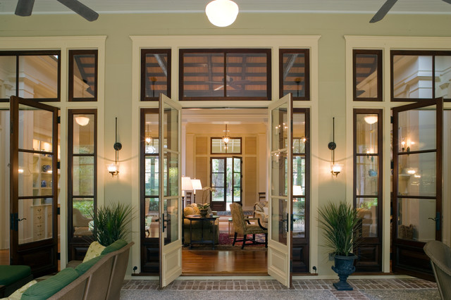 West indies meets lowcountry traditional entry by - Traditional french doors exterior ...